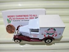 Matchbox MB38 2003 MERRY CHRISTMAS WHITE ROOF Model A Ford Van Nu in NearMint Bx