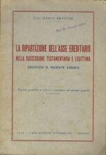 La ripartizione dell'asse ereditario nella successione testamentaria e legittima