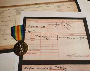 WW1 Victory Medal, Lieutenant Henry Wormald, South Lancashire Regiment, Leeds