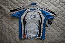 Fox Race Men's blue short sleeve jersey - Large