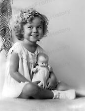 8x10 Print Shirley Temple Early Holding Doll 1934 #STCD