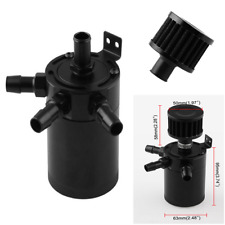 Black Racing Baffled 3-Port Oil Catch Can / Tank / Air-Oil Separator Auto Parts