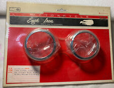 NOS Harley-Davidson Eagle Iron Chrome Turn Signal Rings FXS FXR XL PN 67741-90T