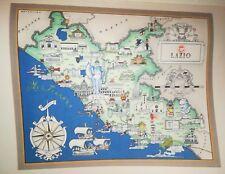 '50 vecchia cartina LAZIO ROMA VITERBO RIETI ANAGNI ALATRI VELLETRI LATINA ANZIO