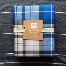 Pottery Barn Teen queen Field House Plaid Duvet Cover only blue