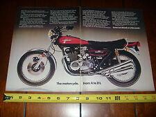 1973 KAWASAKI Z-1 900 - ORIGINAL 2 PAGE AD