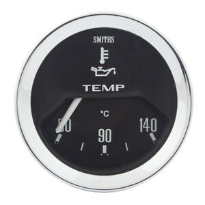 Classic Mini Oil temperature Gauge 52mm Black by Smiths fits 1959-2000 GAE129X