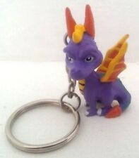 Spyro Mini Figure Keychain From Video Game Crash Bandicoot Coco Tiny Moe Neo B