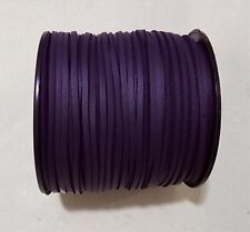 3mm Faux Suede Cord Leather Jewellery Making Beading Flat Thread String Dark Purple 10yd
