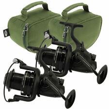 2 x  Dynamic 7000 10 BB Big Pit Large Carp Fishing Bait Reel Runner + Cases