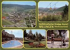 34508 Willingen (Upland)  -  Panorama mit Kath.Kirche - Sessellift - Skulptur