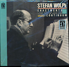 Stefan Wolpe Enactments From Here On Farther Second Pi NON 79024 LP PROMO SEALED