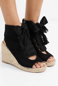 Chloé Harper lace-up espadrille wedges Shoes Black Size 37