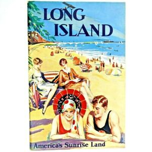 1929 Long Island Railroad Advertising Booklet Station Hotels Tourism New York 3A
