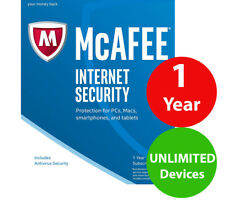 McAfee Internet Security unlimited devices 1 year