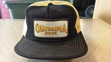 Vintage Olympia Beer Mesh Trucker Snapback Hat Cap Made in USA~ VCUG! rare HTF!