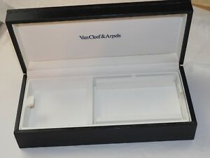 GENUINE Large VAN CLEEF & ARPELS Black leather PRESENTATION WATCH & Jewelry box