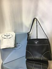 PRADA-Black City Calf Small Twin-Pocket Hobo Bag Org$ 2,470 Now$1,250.00