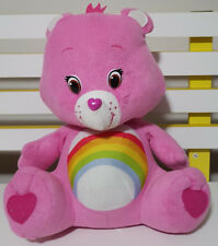 RAINBOW HEART CARE BEAR TEDDY BEAR PLUSH TOY SOFT TOY ABOUT 30CM SEATED KIDS TOY