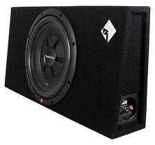 "Rockford Fosgate R2S-1X12 Single 12"" 500W 2-Ohm Sealed Shallow Subwoofer/Sub+Box"