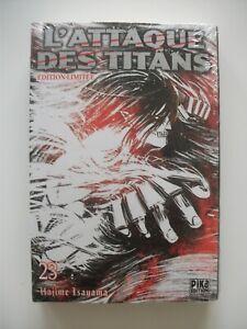 Edition limitée collector T23 L'Attaque des Titans Hajime ISAYAMA Manga - Neuf