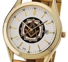 Men's Gold Plated TFX by Bulova Masonic Blue Lodge Watch