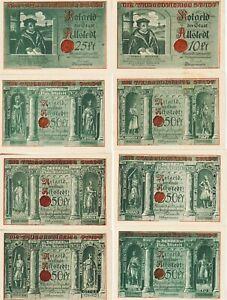 Germany-Allsedt-(8)-10,25,50 Pfennig Notgeld,1.10.1921 Uncirculated Cond, G#15.1