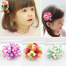 Charming Baby Hairclips Girls Loopy puffs Ribbon Hairpins for Kids Random EOAU