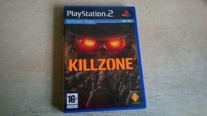 KILLZONE - FPS PS2 GAME / + 60GB PS3 COMPATIBLE - ORIGINAL & COMPLETE - VGC