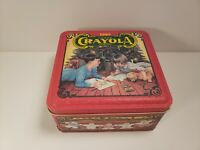 Crayola Tin 1992 Colorful Holiday Wishes Limited Edition Tin Empty