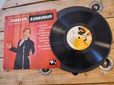 """CHARLES AZNAVOUR LES DEUX GUITARES LP 33T 10"""" VINYLE EX COVER EX ORIGINAL 1960"""