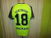 Borussia Dortmund Original Nike Meister Trikot 1995/96 + Nr.18 Ricken Gr.S- M