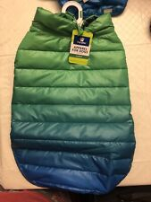 Top Paw Blue Green Ombre Puffer Jacket. Size Large
