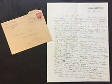Jules LEVY – Lettre autographe signée – Maurice Rollinat - 1927