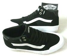 Vans Women's Style 112 Mid Pro Black White Canvas Suede Skate shoes Size 8 NWT