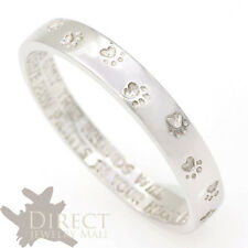 3mm 9ct REAL White GOLD Dog Paw Print Engraved Flat Shape Ring Lover Friends H-V