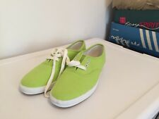 1991 La Gear lime green size 8 canvas vtg women's pointy toe tennis shoes