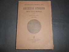 1920 ARCHIVIO STORICO SICILIA ORIENTALE ANNATE 1919 1920 ED. GIANNOTTA CATANIA