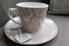 Jane Asher 'Home Inspirations' Vintage Style Porcelain Bird & Flower Mug & Plate
