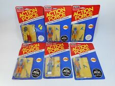 LOT OF 6 ACTION MAN ACTION FORCE FIGURES SEALED MOC GI JOE PALITOY IN USA