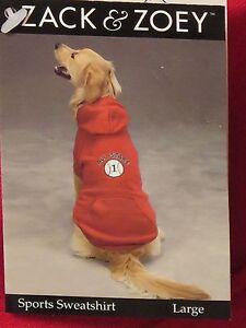 Zack & Zoey/ Red Doggie Sports Sweatshirt All Stars #1 Hooded & Pocket Sz:L BNWT