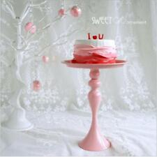 10 Inch Metal Cake and Dessert Stand Pink