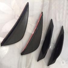 4Pcs Universal Fit Front Bumper Lip Splitter Fins Body Spoiler Canard Valence