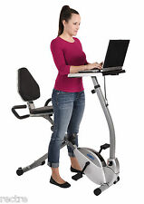 Stamina 2-in-1 RECUMBENT EXERCISE WORKSTATION Bike Stand-Up Computer Laptop Desk