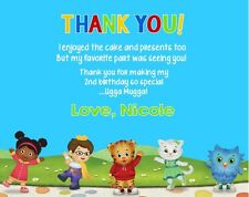 Daniel Tiger Neighborhood Birthday Party Thank You Note Cards Personalized