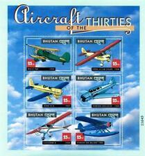 Bhutan 2000 Historic Airplanes M/S Sc#1304 Mnh Aviation