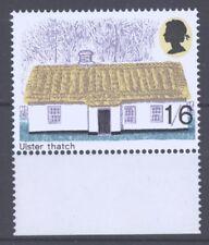 GB PHOS MISSING 1970 British Architecture Ulster Thatch 1/6, SG 818Ey/W181b, MNH