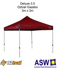 3m x 3m Oztrail Gazebo DELUXE 3.0 RED Instant Fold Marquee G-OZD3.0