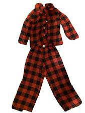 Old Navy Boys Red Black Buffalo Check Pajama Set Sz 5T