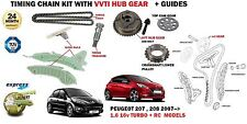 FOR PEUGEOT 207 208 1.6 16v RC TURBO CC SW 2007-> TIMING CHAIN KIT + VVT GEAR
